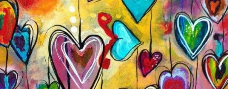 COCKTAILS & CREATIONS: Brilliant Colorful Hearts on Canvas (Age 21+)
