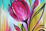 Spring Tulips on Canvas (age 8 to adult)