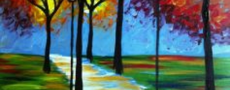 COCKTAILS & CREATIONS:  Whimsical Autumn Trees on Canvas   Age 21+