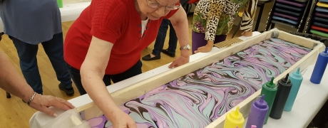 Enrollment Closed - Cocktails & Creations - Silk Scarf Marbling