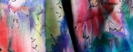 Cocktails & Creations: Painted Silk Scarves
