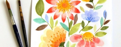 Vibrant Watercolor Flowers